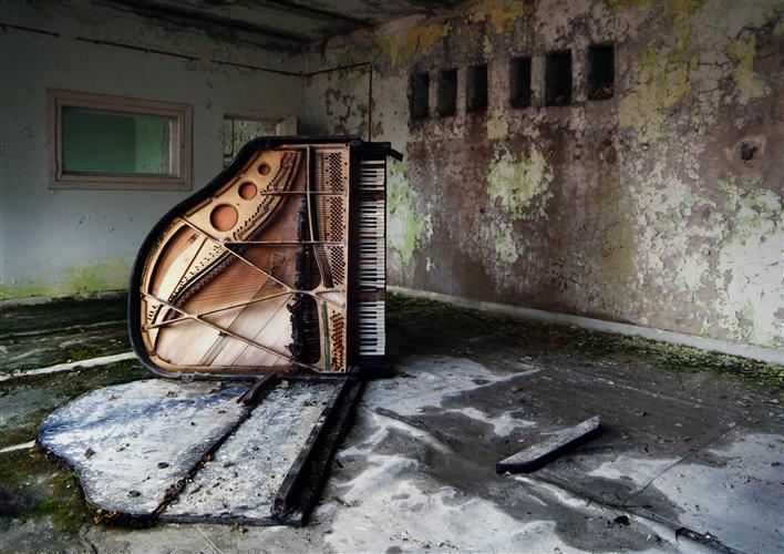 Original art for sale at UGallery.com | Dead Piano by BEAT HAUSER | $145 |  | ' h x ' w | \art\photography-Dead-Piano