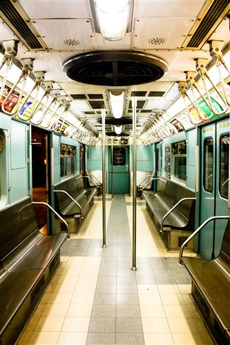 Original art for sale at UGallery.com | New York City Subway in Mint Green by REBECCA PLOTNICK | $195 |  | ' h x ' w | \art\photography-New-York-City-Subway-in-Mint-Green