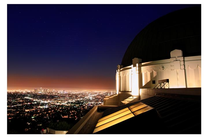 Original art for sale at UGallery.com | Griffith Observatory by DARRIN  VANGORDER | $295 |  | ' h x ' w | \art\photography-Griffith-Observatory