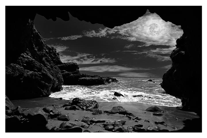 Original art for sale at UGallery.com | Leo Carrillo Nightscape by DARRIN  VANGORDER | $295 |  | ' h x ' w | \art\photography-Leo-Carrillo-Nightscape