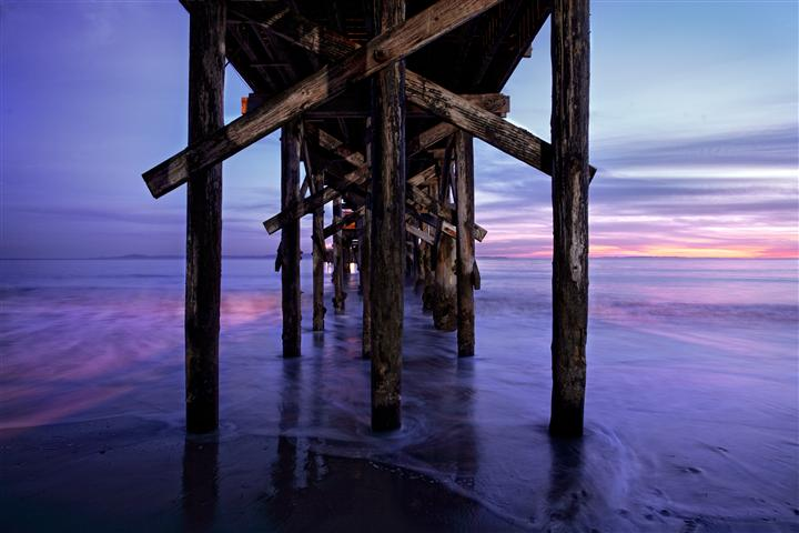 Original art for sale at UGallery.com | Goleta Pier by DARRIN  VANGORDER | $295 |  | ' h x ' w | \art\photography-Goleta-Pier