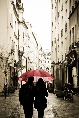 Discover Original Art by Rebecca Plotnick | Red Umbrella in Paris photography | Art for Sale Online at UGallery