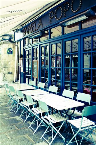 Discover Original Art by Rebecca Plotnick | Popo Cafe in Paris photography | Art for Sale Online at UGallery