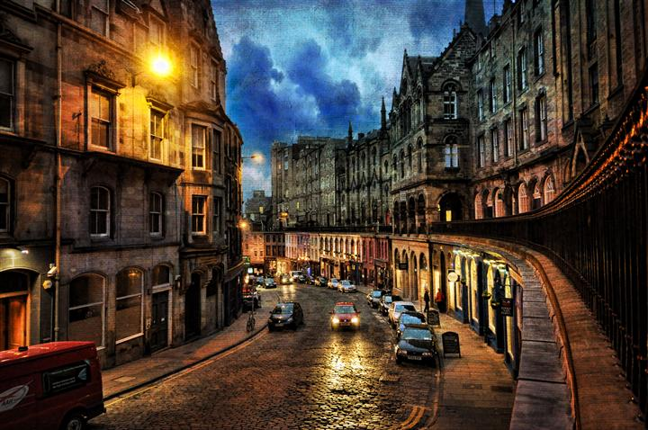 Original art for sale at UGallery.com | A Typical Night in Edinburgh, Scotland by NOELLE VISCONTI | $135 |  | ' h x ' w | \art\photography-A-Typical-Night-in-Edinburgh-Scotland