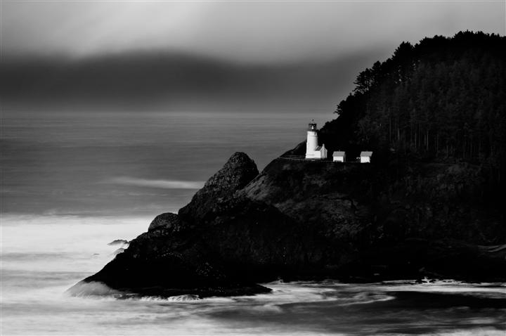 Original art for sale at UGallery.com | A Beacon in Oregon by ANDREW VERNON | $195 |  | ' h x ' w | \art\photography-A-Beacon-in-Oregon