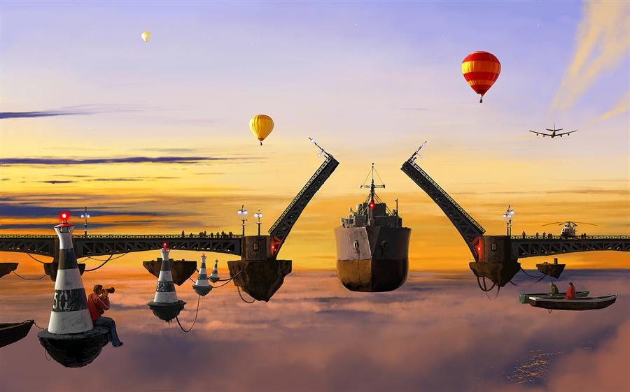 Discover Original Art by Alex Andreev | City P. Gate digital printmaking | Art for Sale Online at UGallery