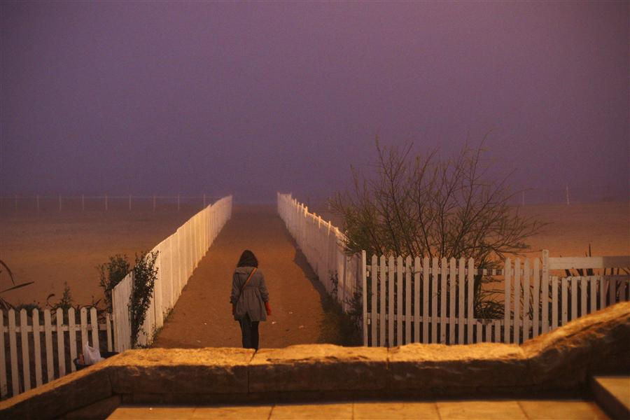 Original art for sale at UGallery.com | Fog in Mar del Plata by MARIA PLOTNIKOVA | $245 |  | ' h x ' w | \art\photography-Fog-in-Mar-del-Plata