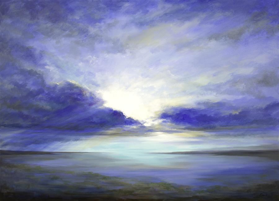 Discover Original Art by Sheila Finch | South Bay Sky acrylic painting | Art for Sale Online at UGallery
