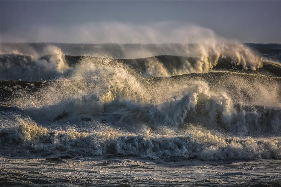 Original art for sale at UGallery.com | Raging Atlantic Ocean by MICHAEL BUSCH | $170 |  | ' h x ' w | \art\photography-Raging-Atlantic-Ocean