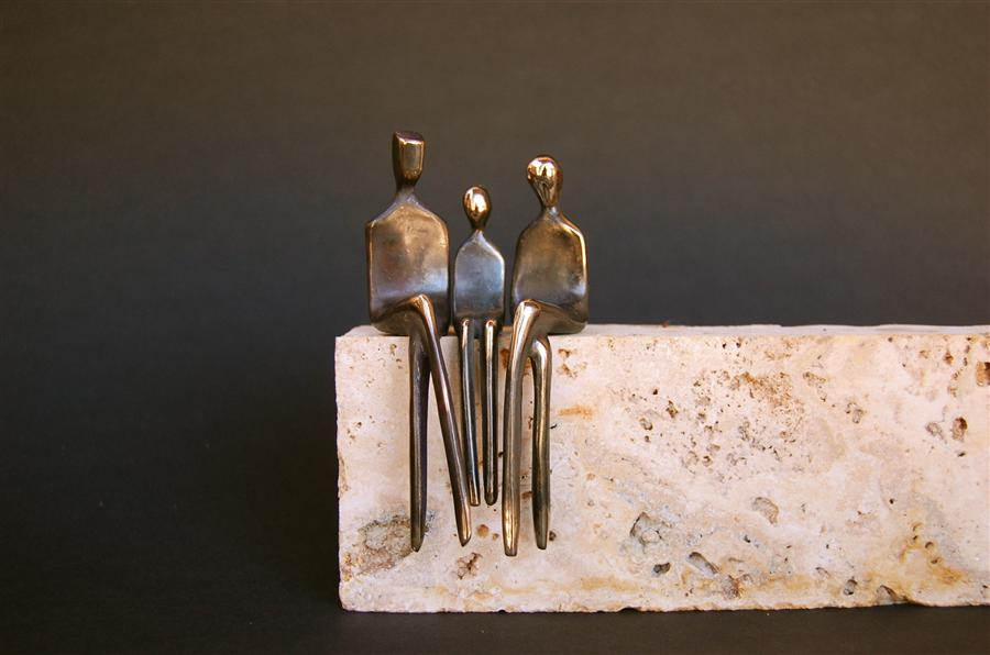 Discover Original Art by Yenny Cocq | Family of Three sculpture | Art for Sale Online at UGallery