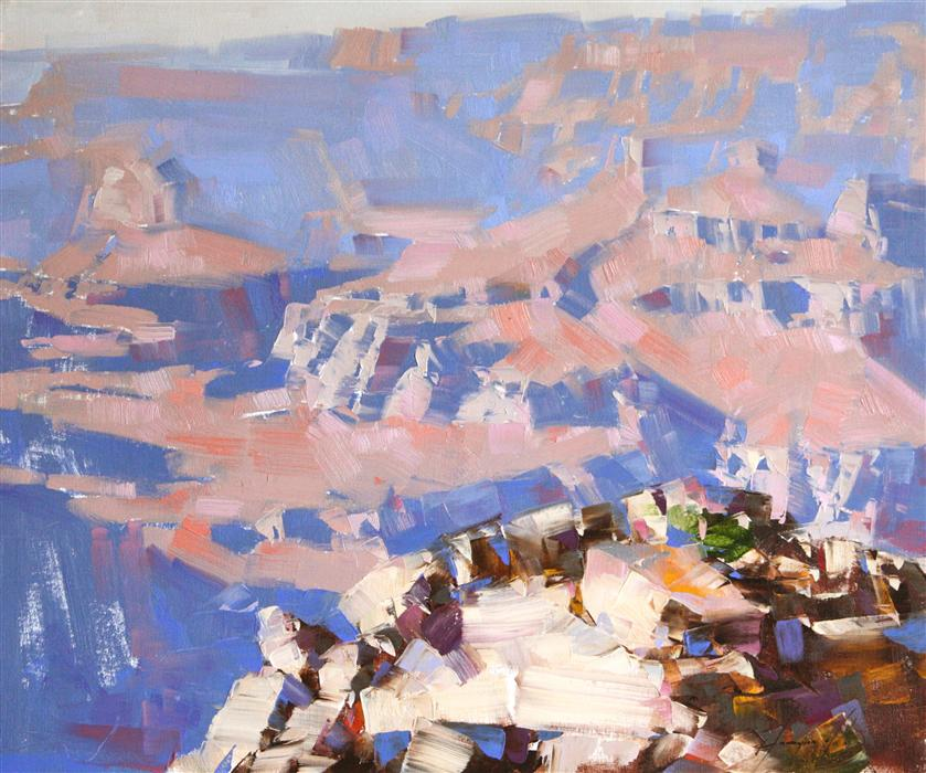 Discover Original Art by Vahe Yeremyan | Yaki Point Grand Canyon oil painting | Art for Sale Online at UGallery