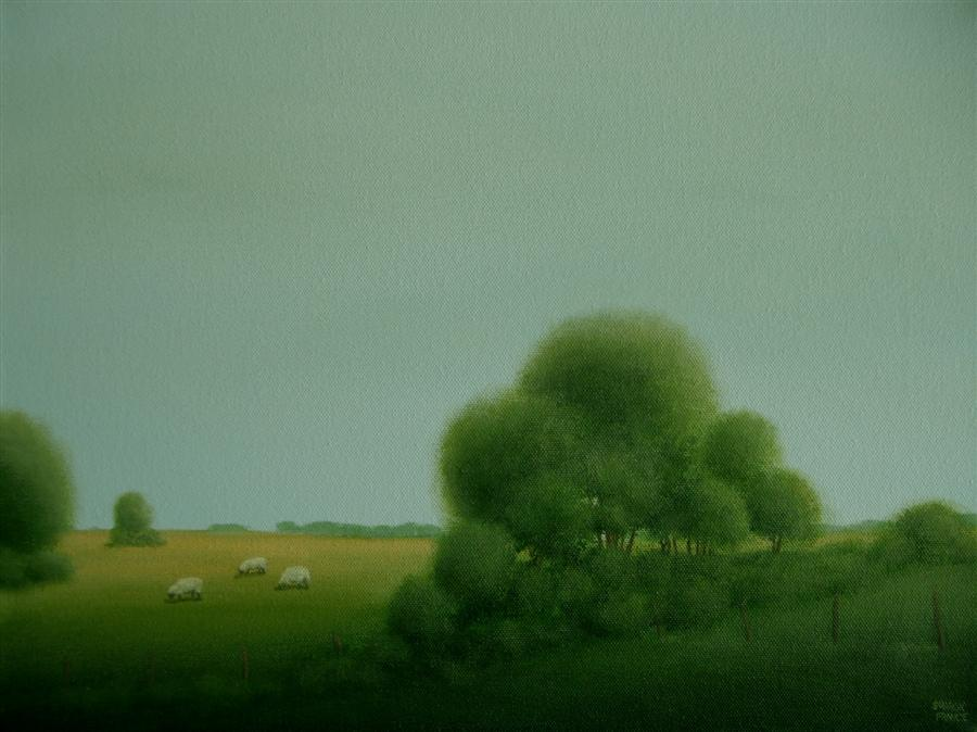 Discover Original Art by Sharon  France | The Quiet Pasture acrylic painting | Art for Sale Online at UGallery
