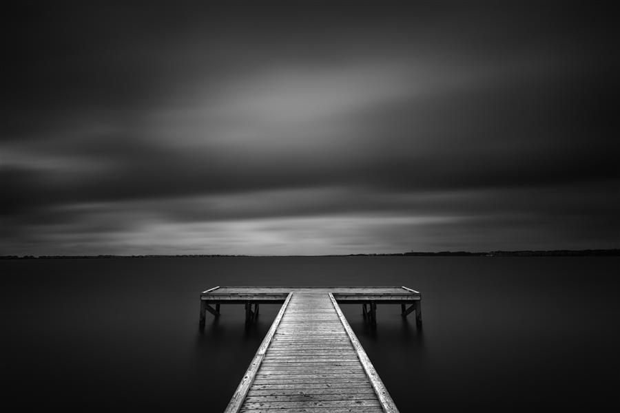 Original art for sale at UGallery.com | The Pier at Sandy Point by ANDREW VERNON | $220 |  | ' h x ' w | \art\photography-The-Pier-at-Sandy-Point