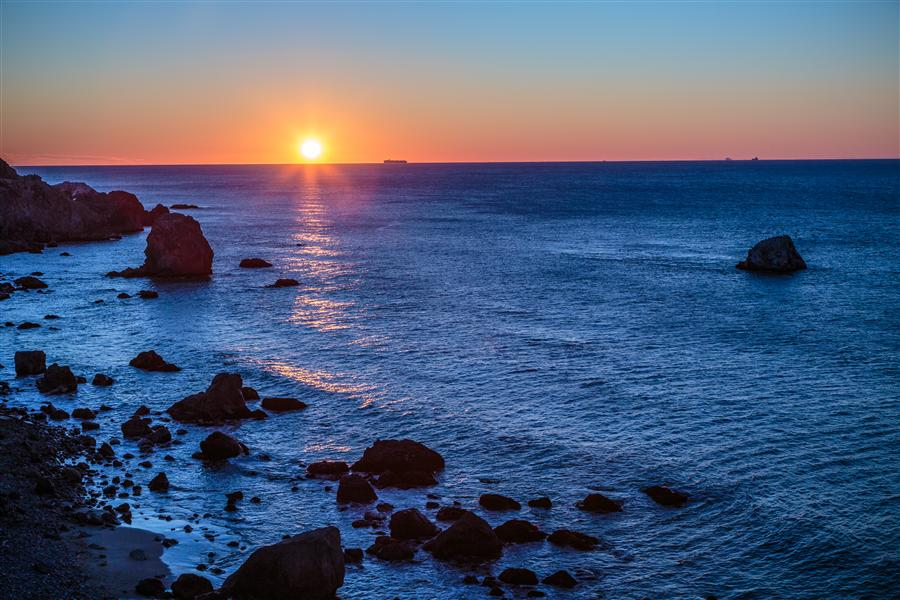 Original art for sale at UGallery.com | Pacific Sunset by MATHEW LODGE | $145 |  | ' h x ' w | \art\photography-Pacific-Sunset