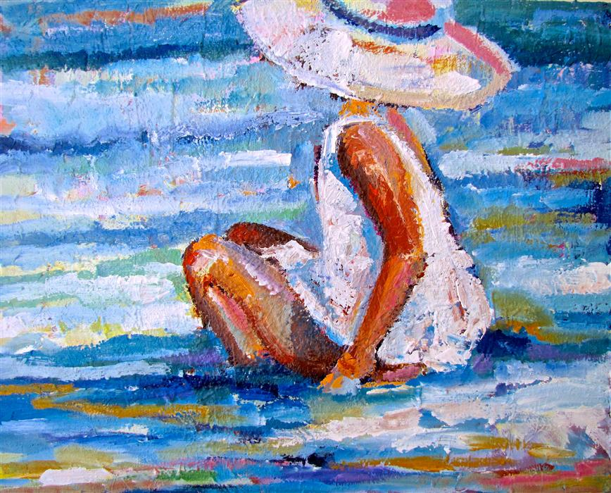 Discover Original Art by Ina Shtukar | Summer III acrylic painting | Art for Sale Online at UGallery