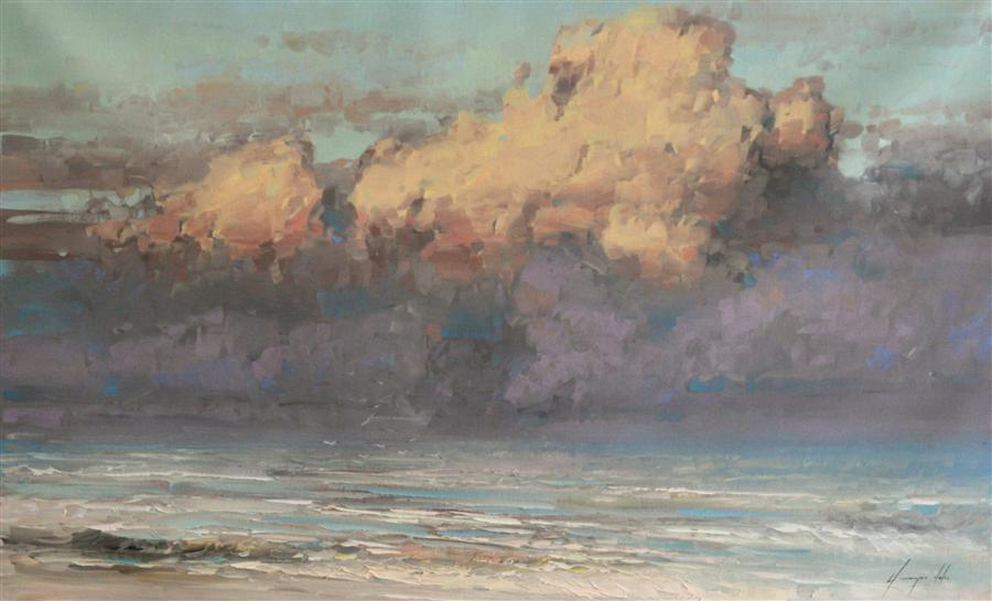Discover Original Art by Vahe Yeremyan | Clouds oil painting | Art for Sale Online at UGallery