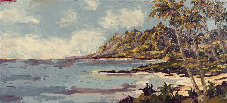 Discover Original Art by Matthew Frederick | East Shore oil painting | Art for Sale Online at UGallery