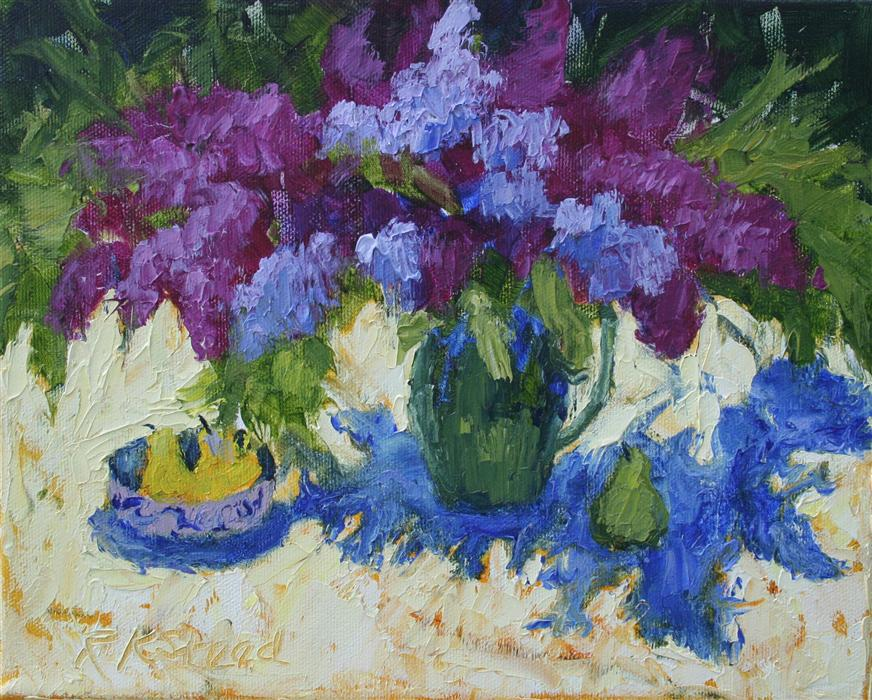 Discover Original Art by Roxanne Steed | Lilac Season oil painting | Art for Sale Online at UGallery