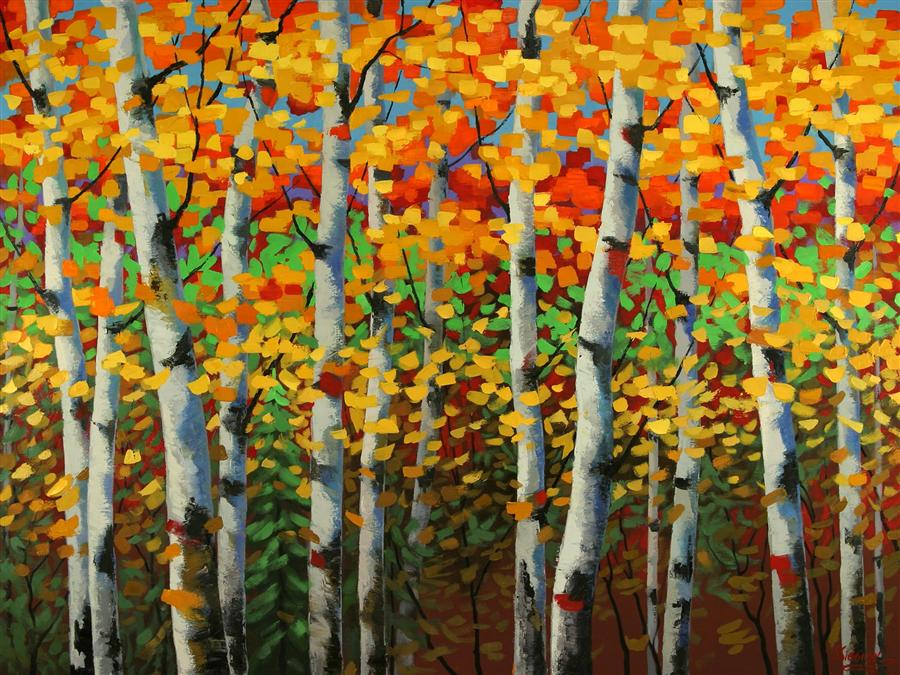 Discover Original Art by Stanislav Sidorov | Fantastic Autumn oil painting | Art for Sale Online at UGallery