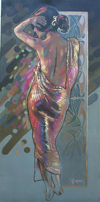 Discover Original Art by Patrick Soper | Nouveau Gold oil painting | Art for Sale Online at UGallery
