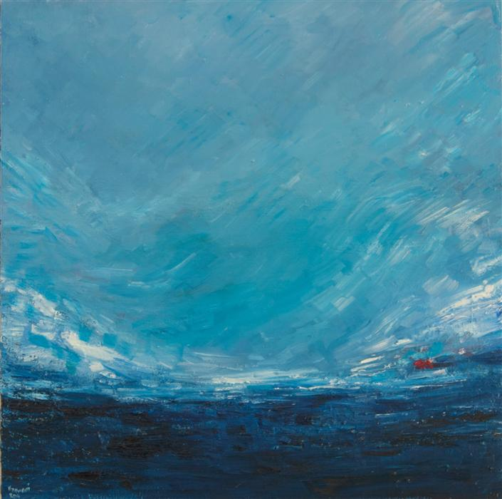 Discover Original Art by Kajal Zaveri | I, Sea, Sky oil painting | Art for Sale Online at UGallery
