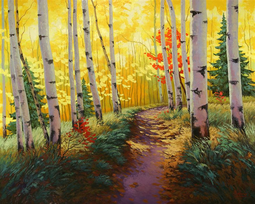 Discover Original Art by Stanislav Sidorov | Autumn Pass oil painting | Art for Sale Online at UGallery