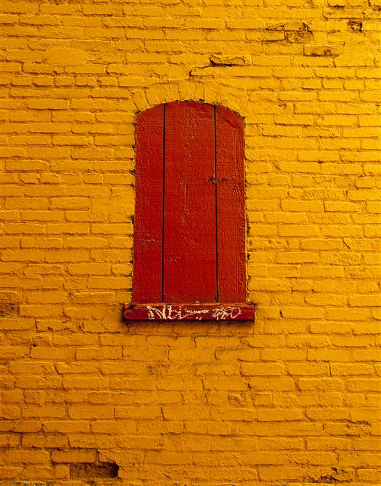 Discover Original Art by Jack Androvich | Red Window, Orange Wall photography | Art for Sale Online at UGallery