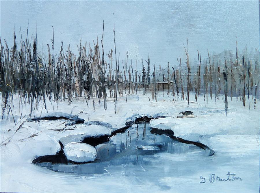 Discover Original Art by Gary Bruton | Winter Wonderland oil painting | Art for Sale Online at UGallery