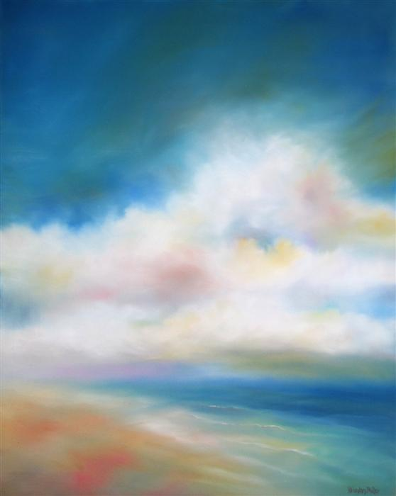 Discover Original Art by Nancy Hughes Miller | Shoreline Clouds oil painting | Art for Sale Online at UGallery