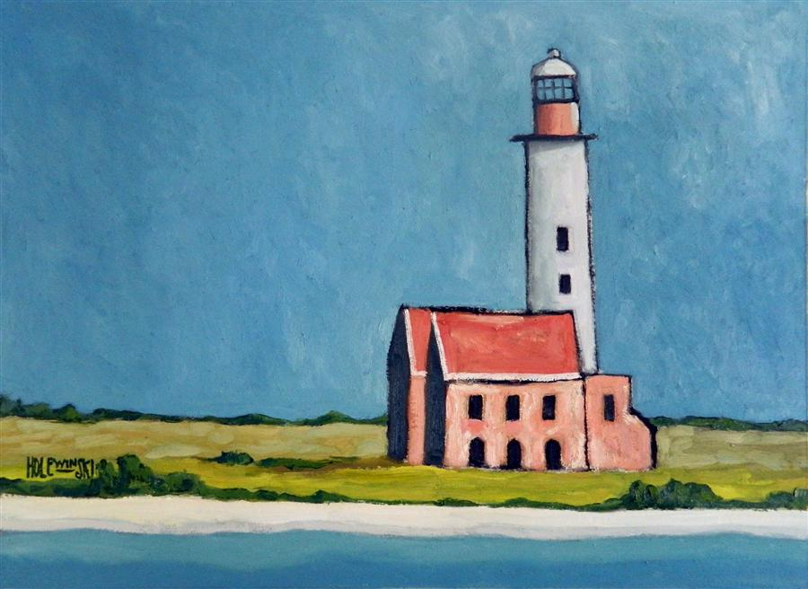 Discover Original Art by Robert  Holewinski | Abandoned Lighthouse oil painting | Art for Sale Online at UGallery