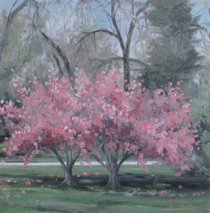 Discover Original Art by Ron Kenyon | Thinking for Spring oil painting | Art for Sale Online at UGallery