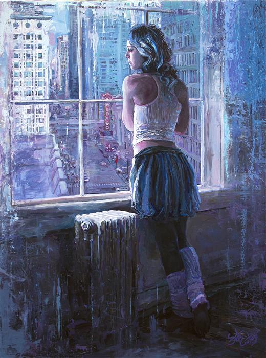 Discover Original Art by Seth Couture | Pirouettes over Paris on the Prairie acrylic painting | Art for Sale Online at UGallery