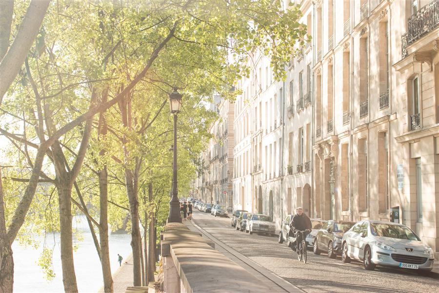 Original art for sale at UGallery.com | Morning on Ile St Louis by REBECCA PLOTNICK | $220 |  | ' h x ' w | \art\photography-Morning-on-Ile-St-Louis-37929