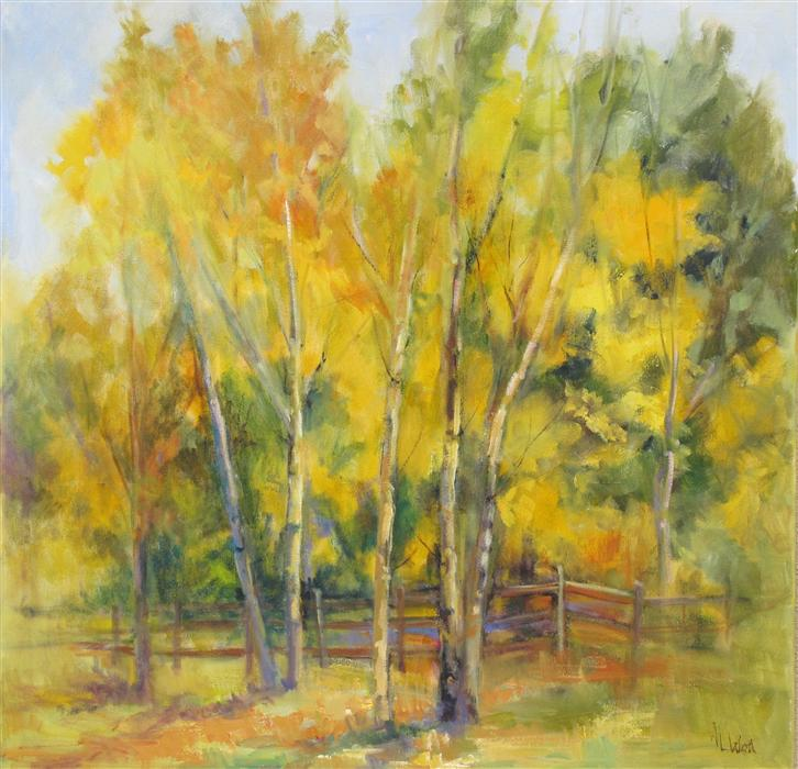 Discover Original Art by Anita L. West | Aspen Waltz oil painting | Art for Sale Online at UGallery