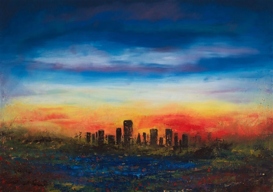 Discover Original Art by Chelsea Tikotsky | San Francisco Bay oil painting | Art for Sale Online at UGallery