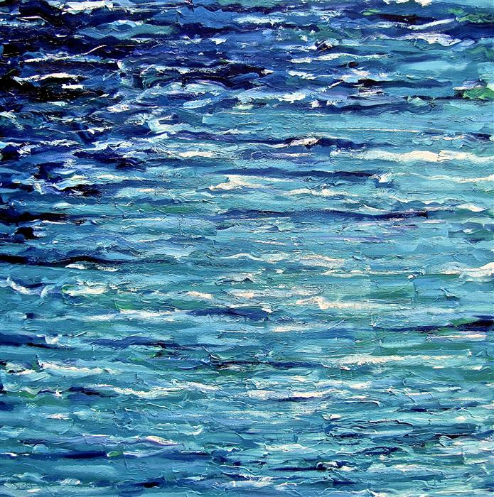Discover Original Art by Ina Shtukar | Aqua acrylic painting | Art for Sale Online at UGallery