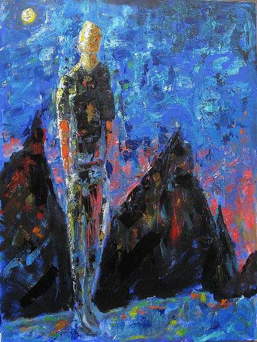 Discover Original Art by Ron Klotchman | The Expressionist acrylic painting | Art for Sale Online at UGallery