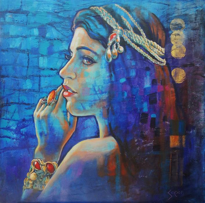 Discover Original Art by Patrick Soper | Gypsy Moon oil painting | Art for Sale Online at UGallery
