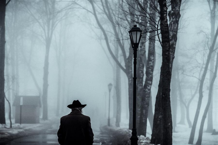 Original art for sale at UGallery.com | Man in the Fog by KONSTANTIN CHALABOV | $145 |  | ' h x ' w | \art\photography-Man-in-the-Fog