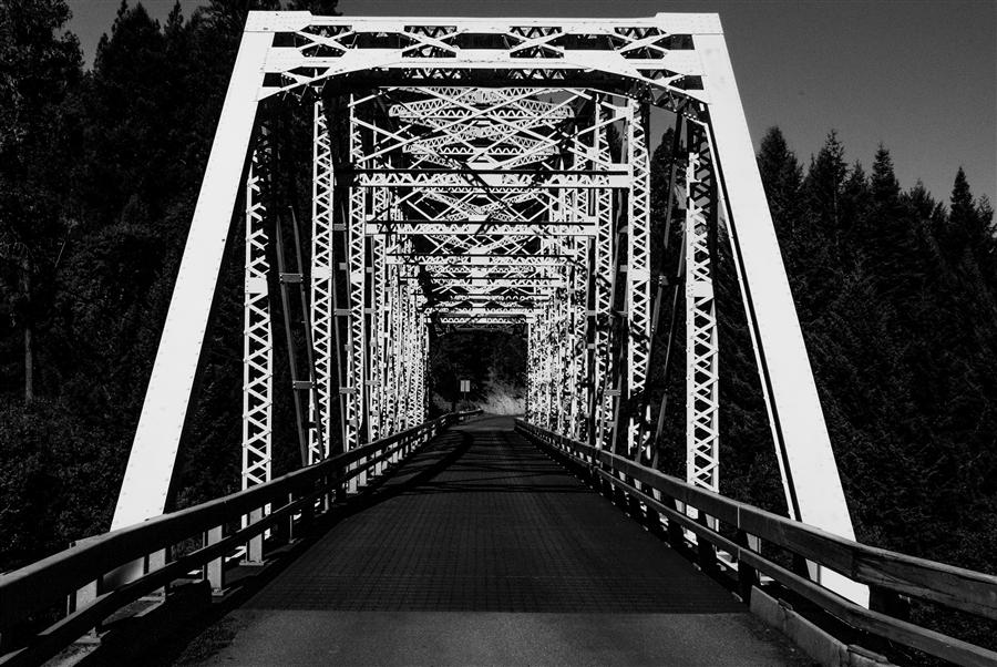 Original art for sale at UGallery.com | Butte Creek Bridge by JACK ANDROVICH | $120 |  | ' h x ' w | \art\photography-Butte-Creek-Bridge