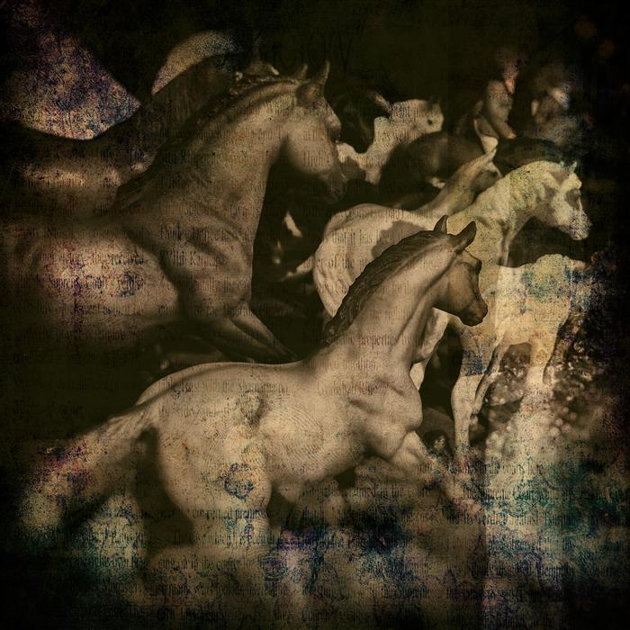 Original art for sale at UGallery.com | Toy Horses by GREG DYRO | $185 |  | ' h x ' w | \art\photography-Toy-Horses