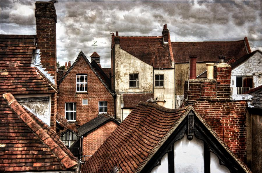 Original art for sale at UGallery.com | Old Time Rooftops by NOELLE VISCONTI | $220 |  | ' h x ' w | \art\photography-Old-Time-Rooftops