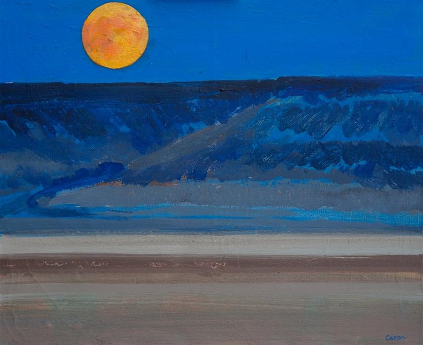 Discover Original Art by Sidonie Caron | Supermoon acrylic painting | Art for Sale Online at UGallery