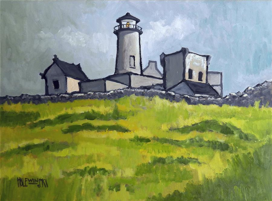 Robert holewinski art exclusive original art for sale ugallery discover original art by robert holewinski old stone lighthouse inishmore oil painting art for sciox Image collections