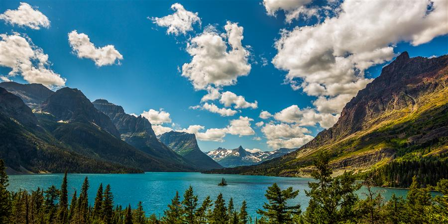 Discover Original Art by Jay Moore | St. Mary Lake, Glacier National Park photography | Art for Sale Online at UGallery