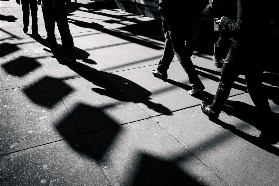 Original art for sale at UGallery.com | Pedestrians at Times Square by RICARDO PERINI | $170 |  | ' h x ' w | \art\photography-Pedestrians-at-Times-Square