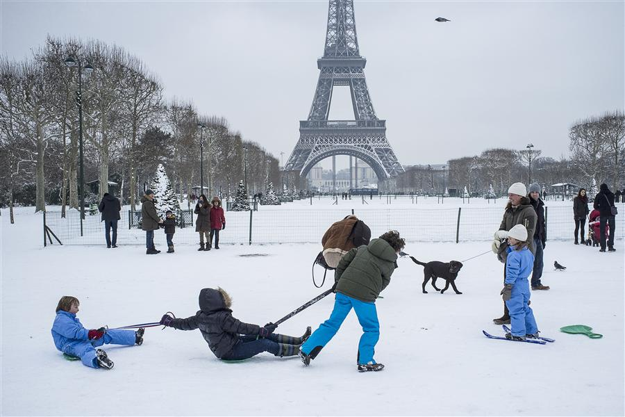 Original art for sale at UGallery.com | Snow in Paris by FABIO COSTA | $245 |  | ' h x ' w | \art\photography-Snow-in-Paris