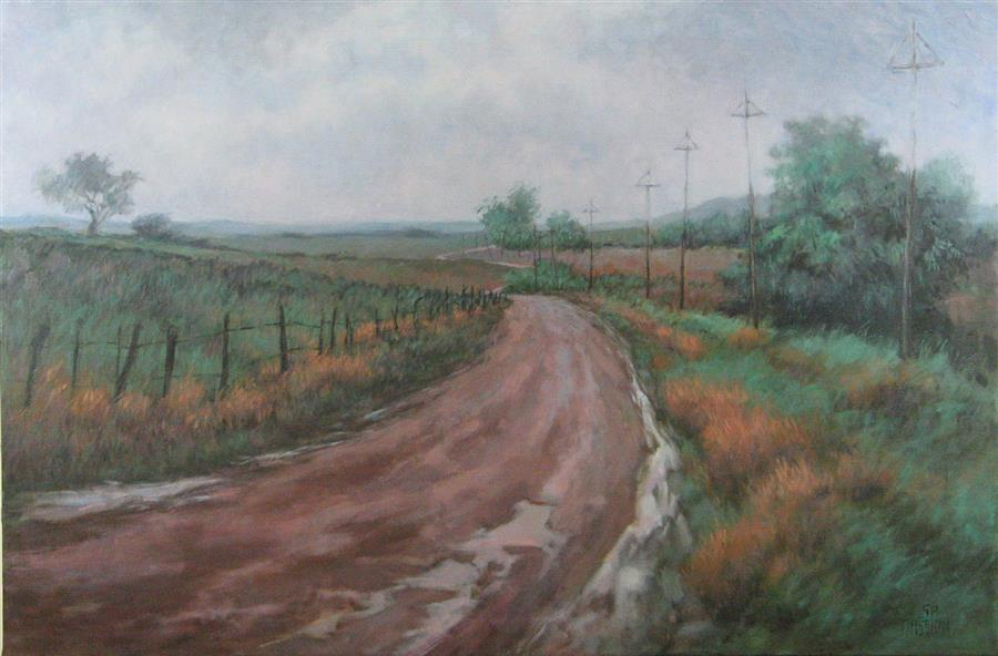 Discover Original Art by Suzanne Massion | The Road Not Taken oil painting | Art for Sale Online at UGallery