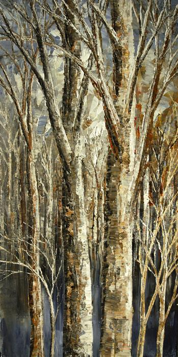 Discover Original Art by Tatiana Iliina | Beaver's Lumberyard acrylic painting | Art for Sale Online at UGallery