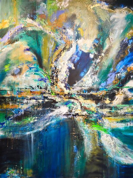 Discover Original Art by DL Watson | Blue Tide acrylic painting | Art for Sale Online at UGallery
